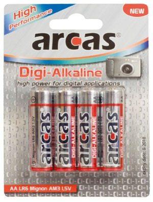 Arcas blister de 4 piles Digi-Alcalines LR6 / AA / 1,5V