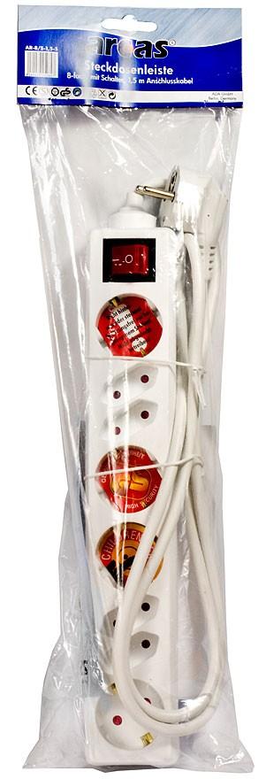 Arcas Multiprise 8 prises avec interrupteur / securite enfants / sachet/blister