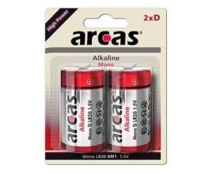 Arcas LR20 pile alcaline D