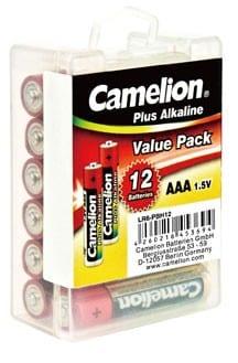 Boite a accrocher de 12 piles Alcalines LR3 AAA