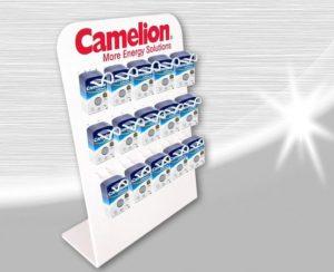 Camelion présentoir pile, batteries 15 crochets