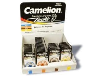 Display de 50 blisters de piles auditives Camelion