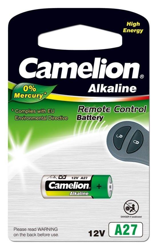 Blister 1 pile LR27A 12V Camelion 0% mercure