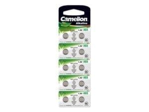 10 piles AG 5 / LR48 / LR754 / 393 Camelion 0% mercure