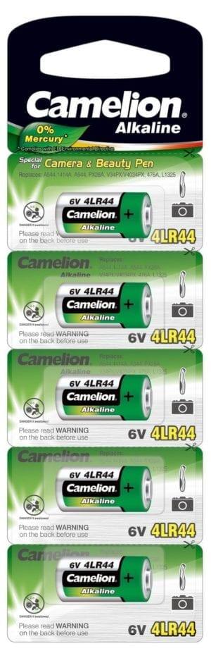 5 Piles 4LR44 Blister de 5 Camelion 6 Volt 0%mercure