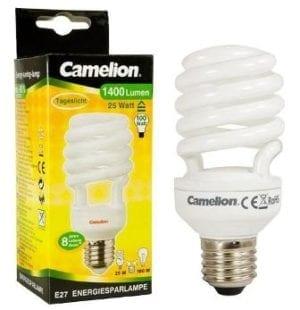 Ampoule fluocompacte T3 SPIRALE - 25W / E27 / 6400K couleur blanc jour