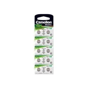 10 piles AG 9 / LR45 / LR936 / 394 Camelion 0% Mercure