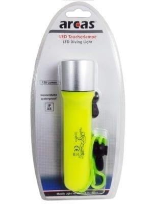 Lampe torche Arcas LED Fluo 3Watt pour plongée sous marine