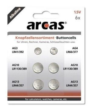 Arcas Mix de 6 piles bouton AG