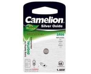Blister de 1 pile SR66W / G4 Camelion 0% mercure