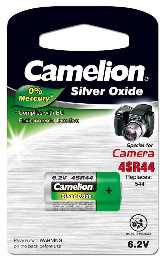 Blister 1 pile 4SR44 PX28 6,2 Volt Camelion 0% mercure
