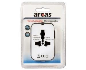 Prise adaptateur voyage Arcas avec 2 ports USB