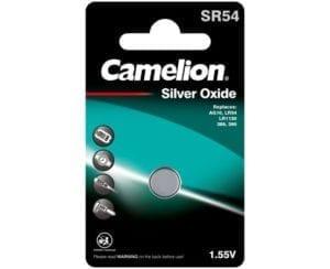 piles bouton oxyde d'argent camelion SR54