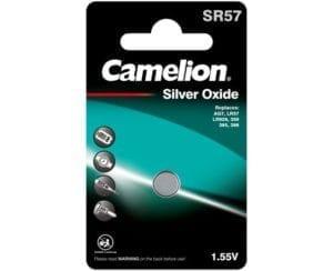 piles bouton oxyde d'argent camelion SR57