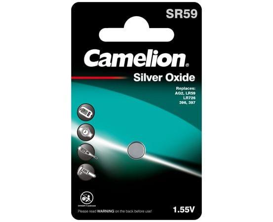 piles bouton oxyde d'argent camelion SR59