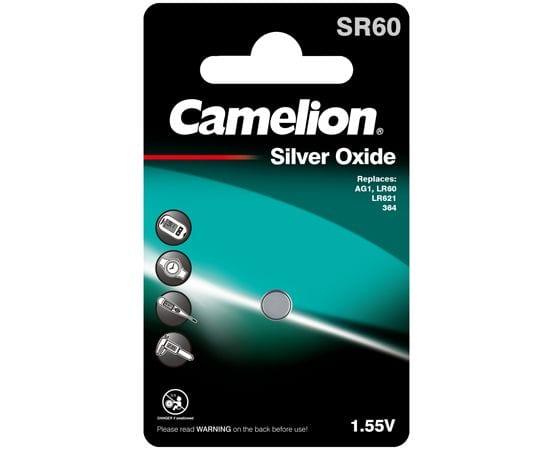 piles bouton oxyde d'argent camelion SR60
