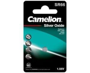 piles bouton oxyde d'argent camelion SR66