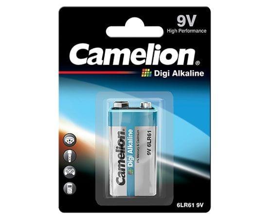 Blister de 1 piles Digi Alcalines 9V 6LR61 1,5V Camelion
