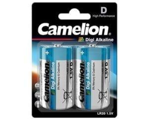 Digi alcalines Piles LR20 D Camelion BP2