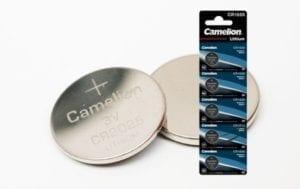 Pile bouton lithium par 5